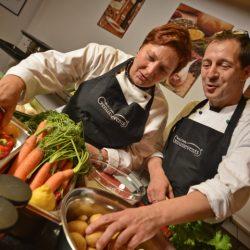 Live Cooking beim Shwokochen in Frankfurt